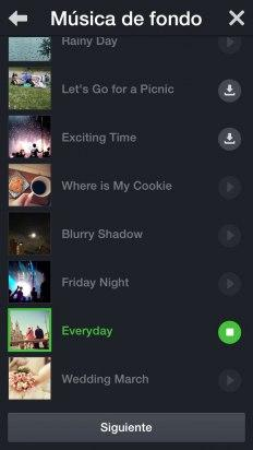 Añade la música de fondo a tu vídeo con Snap Movie de LINE