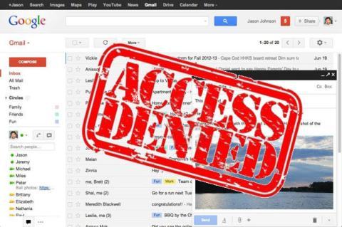 Fallo en Gmail bloquea acceso a usuarios