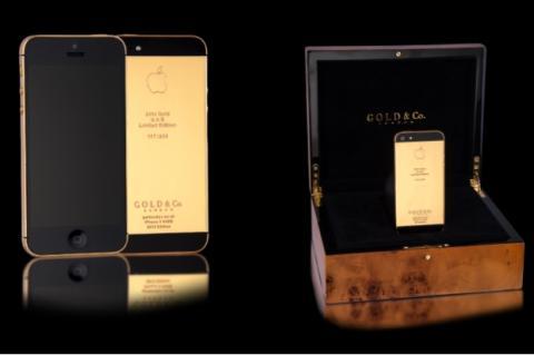 La joyería Gold & Co vende un iPhone 5S bañado en oro de 24 kilates por 5.000 dólares