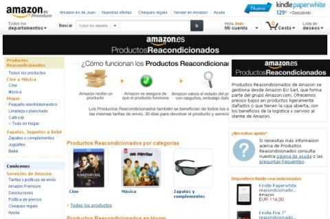 Amazon reorganiza su sección de productos reacondicionados