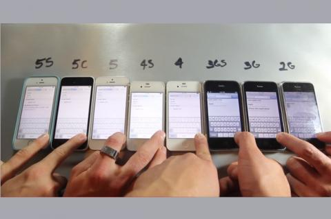 Todos los iPhone funcionando al mismo tiempo, en vídeo