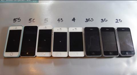 iPhones apagándose