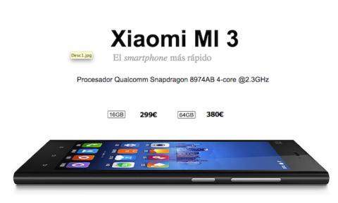 Precio Xiaomi Mi3