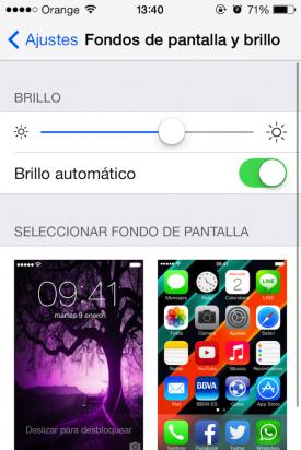 brillo iOS 7