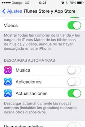 actualizaciones iOS 7
