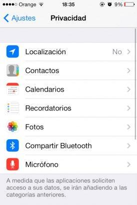 Localización iOS 7