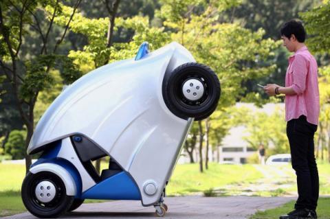 Armadillo-T, el coche plegable controlado con smartphone