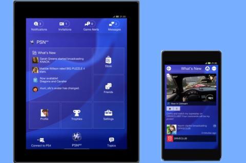 Sony presenta la app de PlayStation 4 para iOS y Android