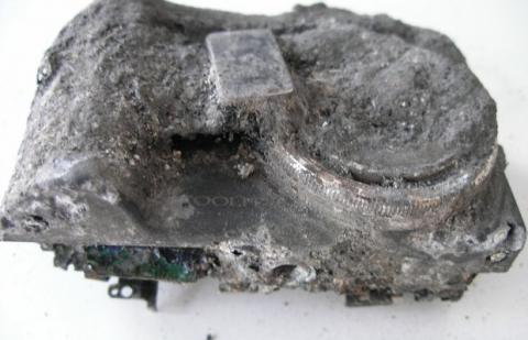 cámara dañada