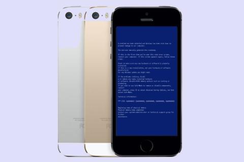 Usuarios de iPhone 5S reportan reinicios y Pantalla Azul de la Muerte (BSOD)
