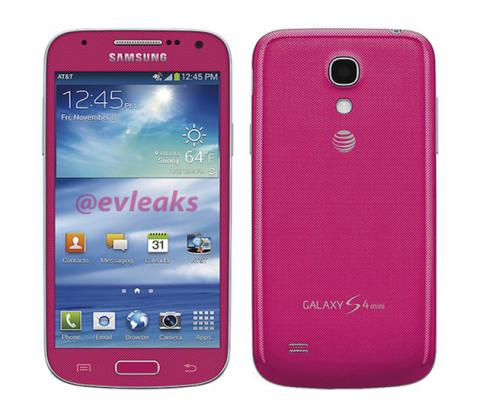 Samsung Galaxy S4 mini filtrado en color rosa