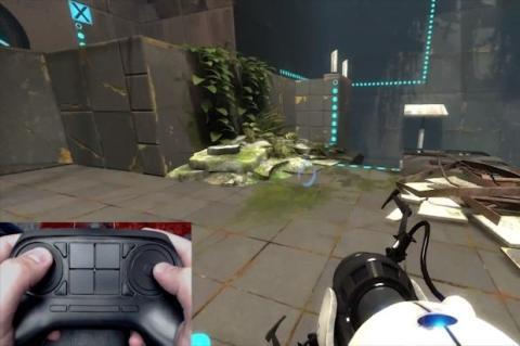 Steam Controller con Portal 2