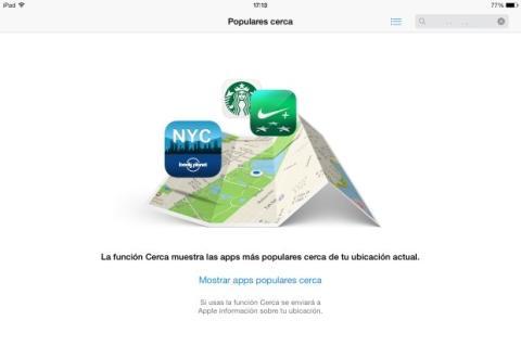 Función Cerca App Store