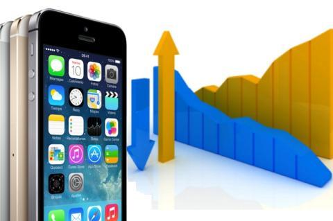Número de usuarios nuevos de iPhone cae, actualizaciones suben