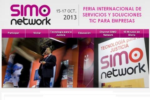 La feria SIMO Network 2013, la feria sobre TIC para empresas y educación, del 15 al 17 de octubre en IFEMA Madrid