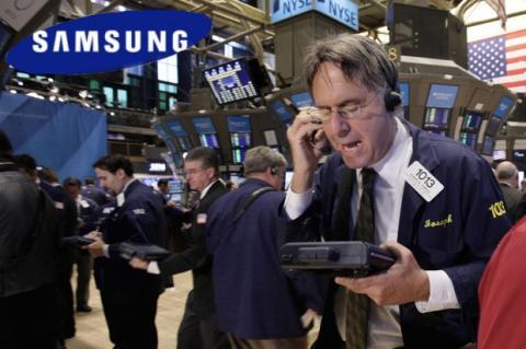 Nota de prensa de Samsung fraudulenta empuja precios en la bolsa