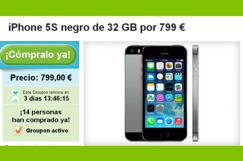 El iPhone 5S, ya a la venta en España en Groupon