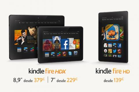 Kindle Fire HD, HDX 7 y HDX 8,9 ya están disponibles en Amazon ES