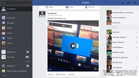 App oficial de Facebook para Windows 8.1