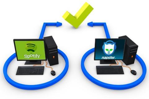 Napster vs Spotify