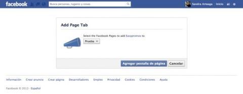 Instala Easypromos en tu página de Facebook