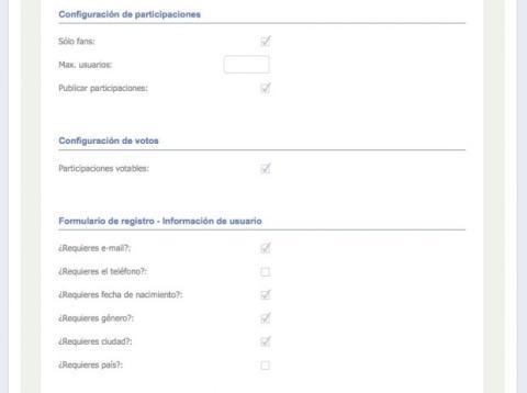 Crea el concurso en tu página de Facebook con Easypromos