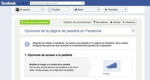 Selecciona la pestaña de publicación de tu concurso en Facebook