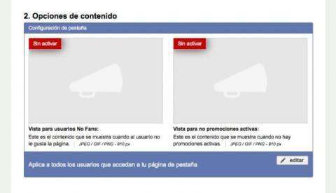 Diferencia el contenido de tu concurso en Facebook entre fans y no fans