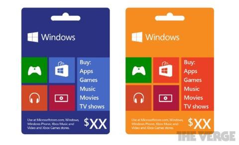 Tarjetas regalo Microsoft