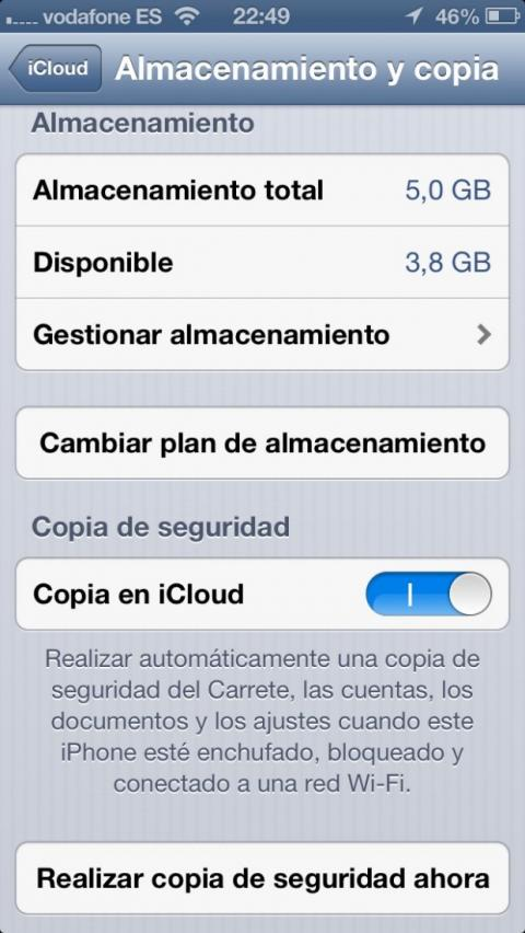 Guarda los datos de tu iPhone