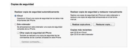 Copia los datos a tu nuevo iPhone