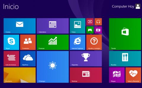 Pantalla Inicio Windows 8.1