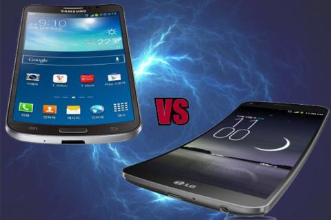Comparativa: LG G Flex vs Samsung Galaxy Round