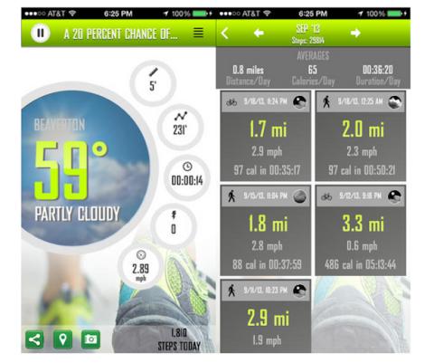 Weather run iOS 7