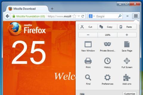 Nuevo Firefox 25