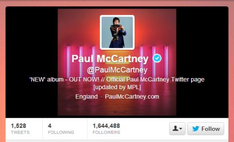 Twitter de Paul McCartney