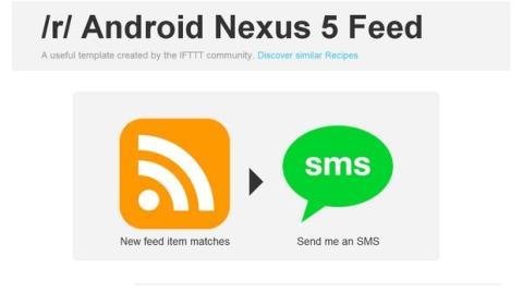 Alerta Nexus 5 IFTTT