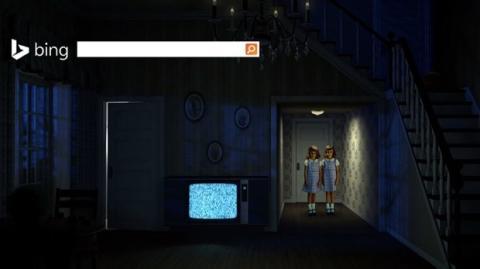 La home de Bing se viste de Halloween