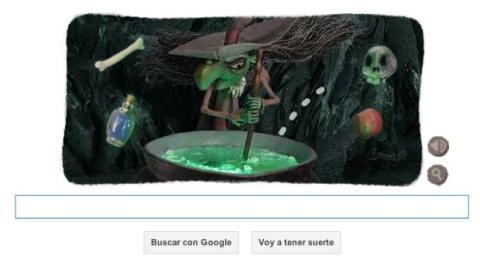 Doodle de Google se viste de Halloween