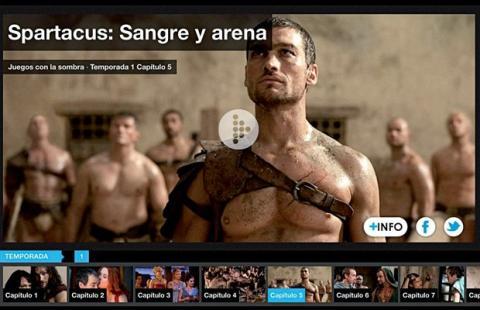 Spartacus en Mitele