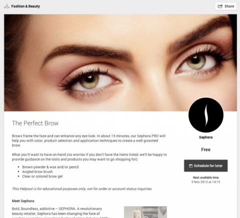 Sephora en Google Helpouts
