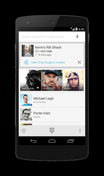 Identificador de llamadas en Google KitKat para Android