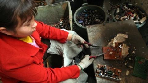reciclado electrónico Asia
