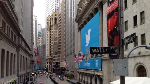 Twitter se estrena en la Bolsa de Nueva York, en Wall Street