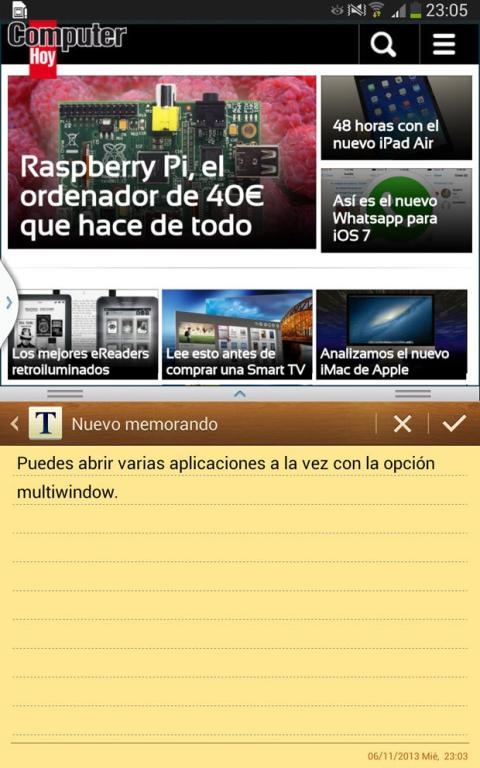 Multiwindow Samsung Galaxy Tab 3 8.0