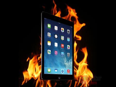 incendio iPad Air en tienda Vodafone
