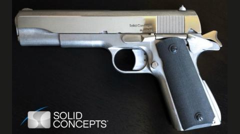 Primera pistola de metal impresa con una impresora 3D