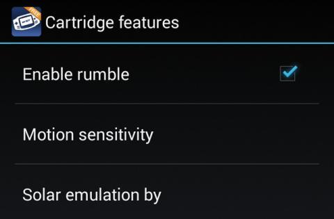 Pantalla de propiedades de la app emulador de consola