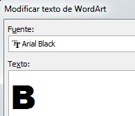 Texto WordArt