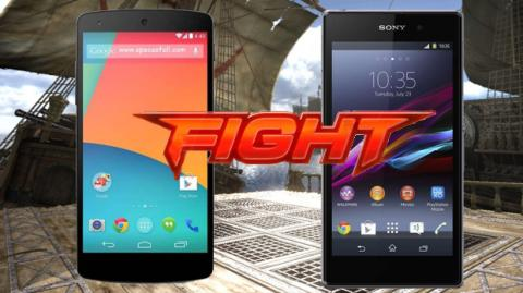 Nexus 5 contra Xperia Z1